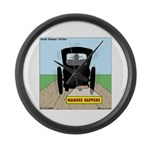 Amish Bumper Sticker Large Wall Clock