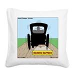 Amish Bumper Sticker Square Canvas Pillow