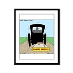 Amish Bumper Sticker Framed Panel Print