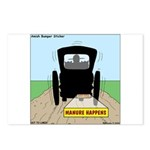 Amish Bumper Sticker Postcards (Package of 8)