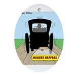 Amish Bumper Sticker Ornament (Oval)