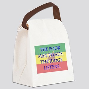 The Poor Man Pleads - Amharic Canvas Lunch Bag
