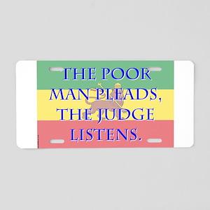 The Poor Man Pleads - Amharic Aluminum License Pla