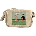 Adam and Eve Pickup Lines Messenger Bag