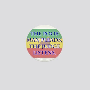 The Poor Man Pleads - Amharic Mini Button