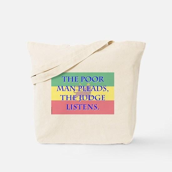 The Poor Man Pleads - Amharic Tote Bag