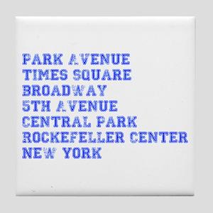 park-ave-coll-blue Tile Coaster