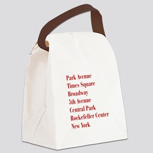 park-ave-bod-dark-red Canvas Lunch Bag