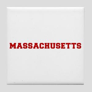 massachusetts-fresh-dark-red Tile Coaster