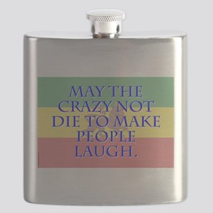 May The Crazy Not Die - Amharic Flask