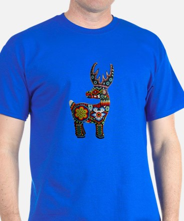 Huichol Art: 'Beaded Stag' Men's T-Shirt