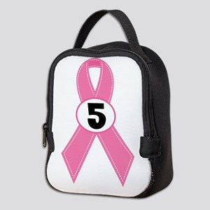 Breast Cancer 5 Year Survivor Neoprene Lunch Bag