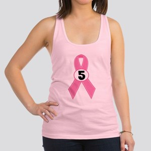 Breast Cancer 5 Year Survivor Racerback Tank Top