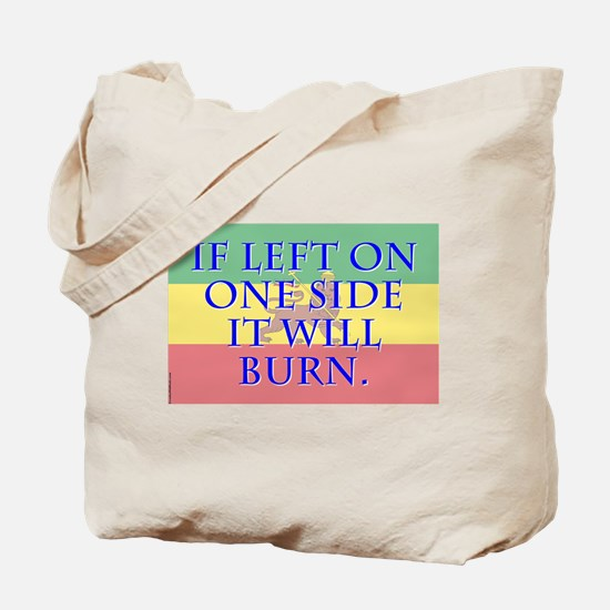 If Left On One Side - Amharic Tote Bag