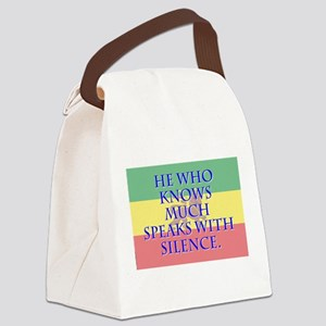 He Who Knows Much - Amharic Canvas Lunch Bag