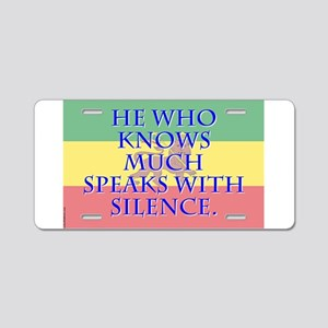 He Who Knows Much - Amharic Aluminum License Plate