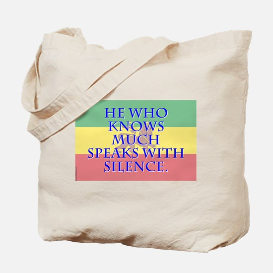 He Who Knows Much - Amharic Tote Bag