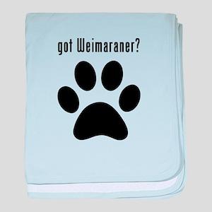 got Weimaraner? baby blanket