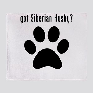 got Siberian Husky? Throw Blanket