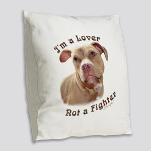 I'm a Lover Burlap Throw Pillow
