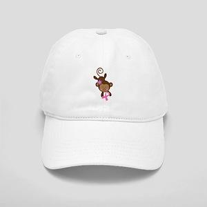 Breast Cancer Ribbon Monkey Cap