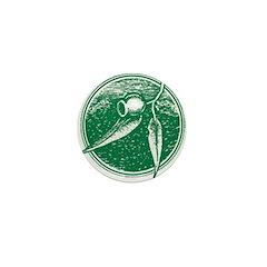 Yelverton Gumleaf Mini Button (10 pack)