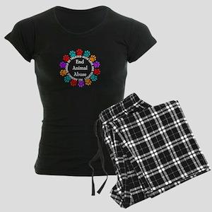 End Animal Abuse Women's Dark Pajamas