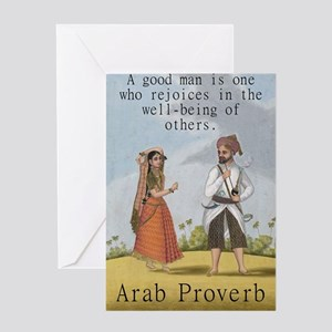 A Good Man Is One Who Rejoices - Arab Greeting Car