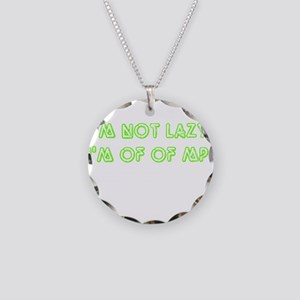 No more MP green Necklace