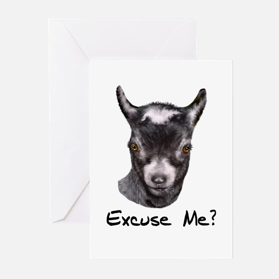 Pygmy Goat Excuse me? Greeting Cards (Pk of 10