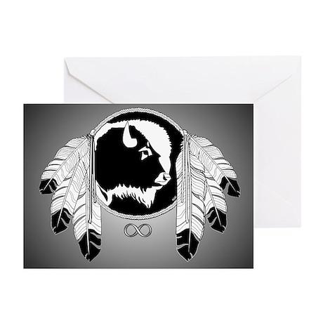 Metis Spirit Buffalo Nat Greeting Cards (Pk of 10)