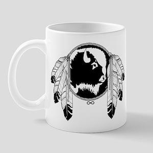Metis Spirit Buffalo Native Art 11 oz Ceramic Mug