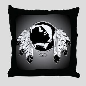 Native Art Throw Pillow First Nation Wildlife Art