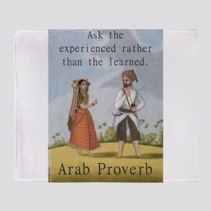 Ask The Experienced - Arab Throw Blanket