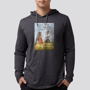 Better To Be A Free Dog - Arab Mens Hooded Shirt