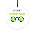SEA TURTLE NERD Ornament (Round)