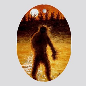 Big Foot at Dusk Oval Ornament