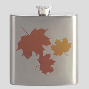 Autumn Leaves Flask