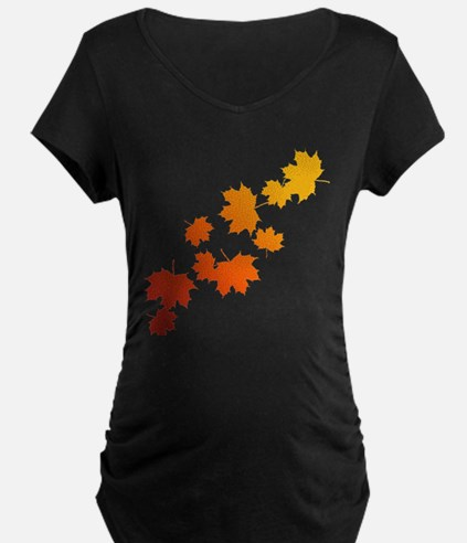 Autumn Leaves Maternity T-Shirt