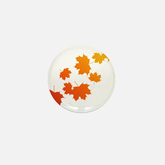 Autumn Leaves Mini Button