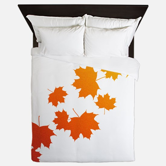 Autumn Leaves Queen Duvet