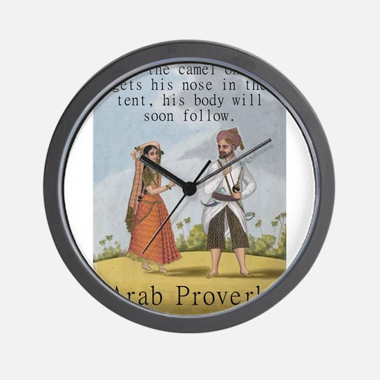 If The Camel Once Gets His Nose - Arab Wall Clock