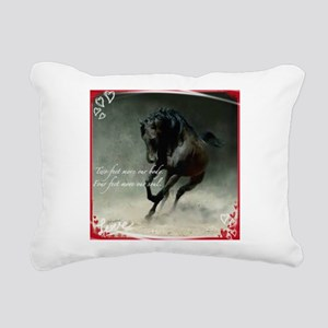 Four feet move your soul Rectangular Canvas Pillow