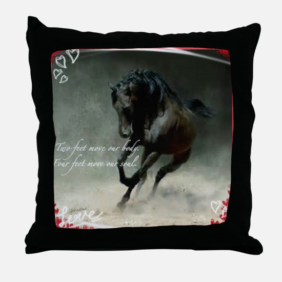 Four feet move your soul Throw Pillow