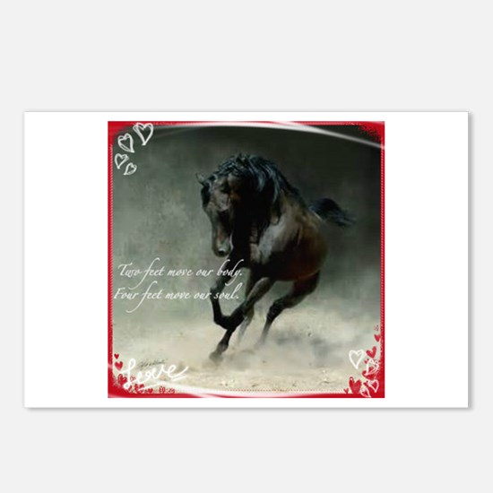 Four Feet Move Your Soul Postcards (package Of 8)