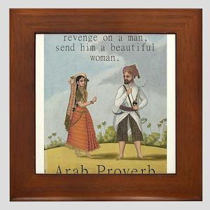If You Want To Take Revenge - Arab Framed Tile