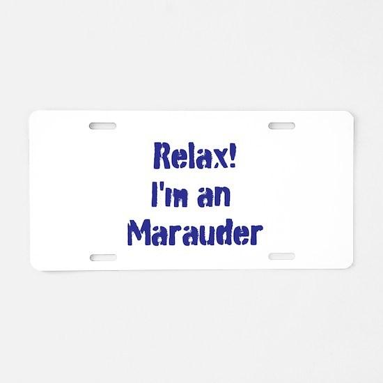 Marauder Aluminum License Plate