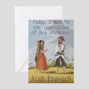 Judge A Man By The Reputation - Arab Greeting Card
