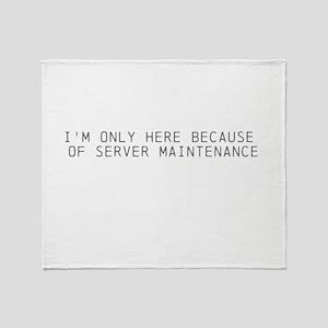 Servers down Throw Blanket