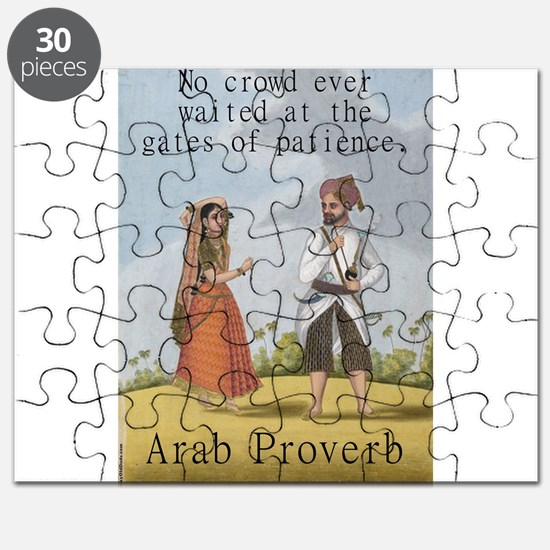 No Crowd Ever Waited - Arab Puzzle